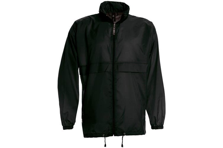 B&C Sirocco Mens Lightweight Jacket / Mens Outer Jackets (Black) (M)