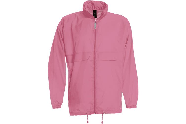 B&C Sirocco Mens Lightweight Jacket / Mens Outer Jackets (Pixel Pink) (S)