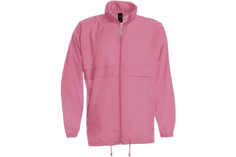 B&C Sirocco Mens Lightweight Jacket / Mens Outer Jackets (Pixel Pink) (2XL)