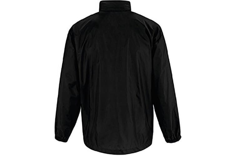 B&C Sirocco Mens Lightweight Jacket / Mens Outer Jackets (Black) (L)