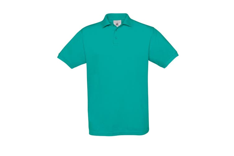 B&C Safran Mens Polo Shirt / Mens Short Sleeve Polo Shirts (Real Turquoise) (XL)