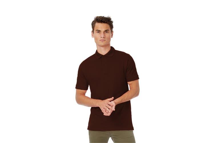 B&C Safran Mens Polo Shirt / Mens Short Sleeve Polo Shirts (Brown) (S)