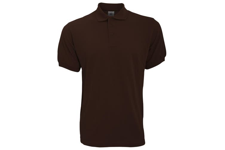 B&C Safran Mens Polo Shirt / Mens Short Sleeve Polo Shirts (Brown) (L)