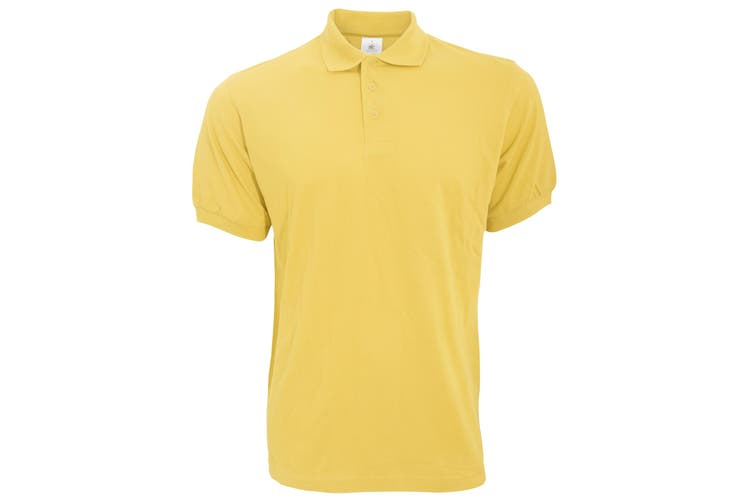 B&C Safran Mens Polo Shirt / Mens Short Sleeve Polo Shirts (Gold) (L)