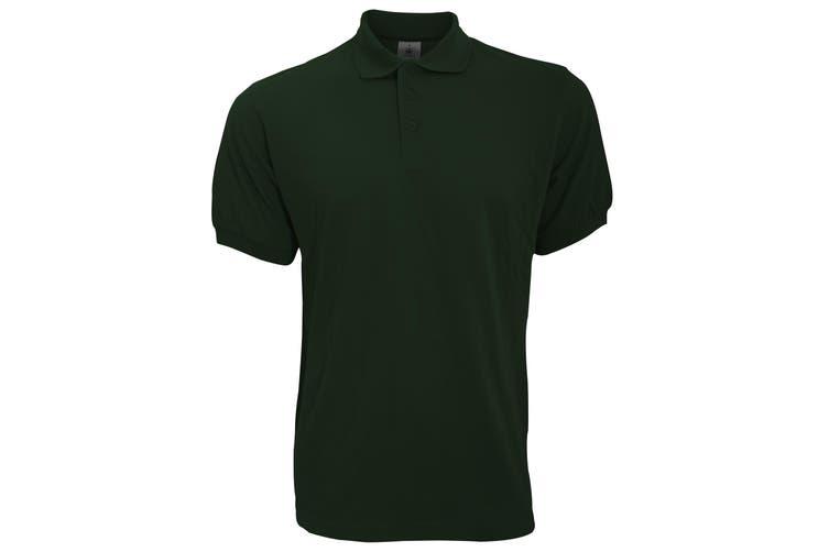 B&C Safran Mens Polo Shirt / Mens Short Sleeve Polo Shirts (Khaki) (S)
