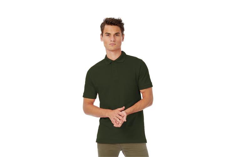 B&C Safran Mens Polo Shirt / Mens Short Sleeve Polo Shirts (Khaki) (M)
