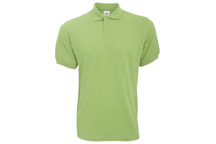 B&C Safran Mens Polo Shirt / Mens Short Sleeve Polo Shirts (Pistachio) (S)
