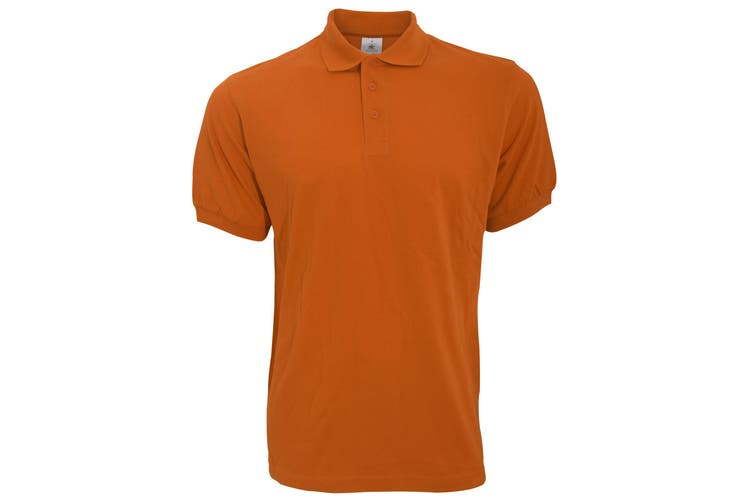 B&C Safran Mens Polo Shirt / Mens Short Sleeve Polo Shirts (Pumpkin Orange) (2XL)