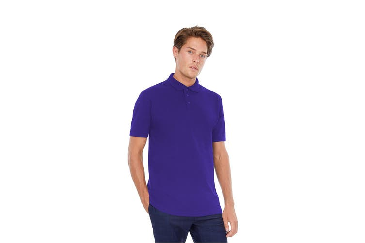 B&C Safran Mens Polo Shirt / Mens Short Sleeve Polo Shirts (Purple) (M)