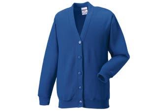 Russell Workwear Mens Sweatshirt Cardigan (Bright Royal) - UTBC1058