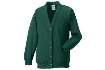 Russell Workwear Mens Sweatshirt Cardigan (Bottle Green) - UTBC1058