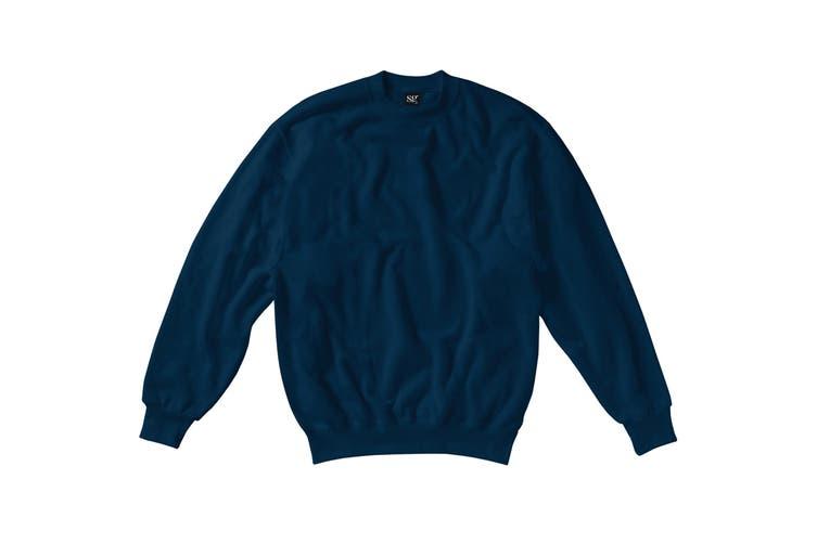 SG Kids/Childrens Crew Neck Sweatshirt Top (Navy Blue) (7-8)
