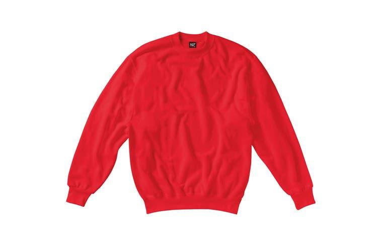 SG Kids/Childrens Crew Neck Sweatshirt Top (Red) (3-4)