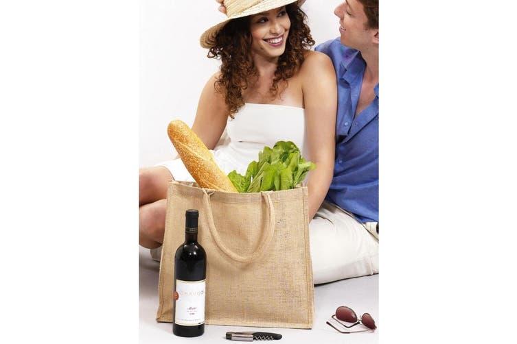 Shugon Chennai Jute Shopper Bag (20 Litres) (Natural Jute) (One Size)