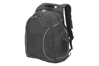 Shugon Toronto 15.6 inch Laptop Backpack - 28 Litres (Black/Black) (One Size)