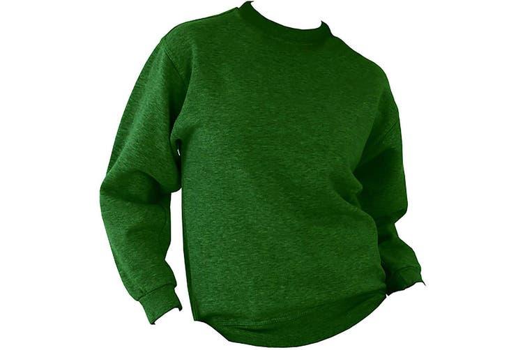 UCC 50/50 Unisex Plain Set-In Sweatshirt Top (Bottle Green) (5XL)
