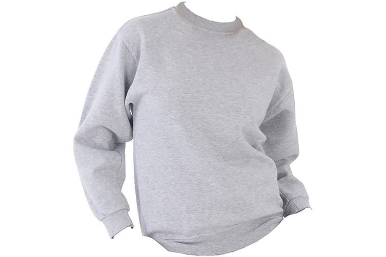 UCC 50/50 Unisex Plain Set-In Sweatshirt Top (Heather Grey) (XS)