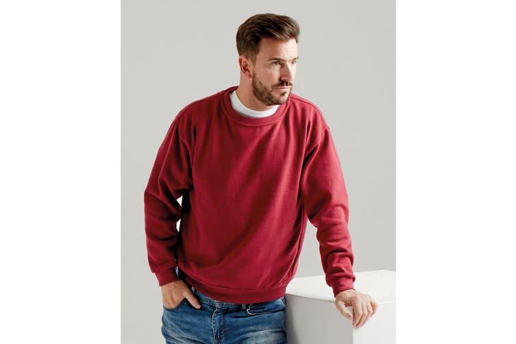 UCC 50/50 Unisex Plain Set-In Sweatshirt Top (Burgundy) (2XL)