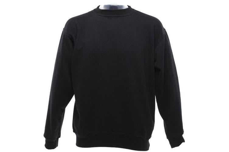 UCC 50/50 Mens Heavyweight Plain Set-In Sweatshirt Top (Black) (XS)
