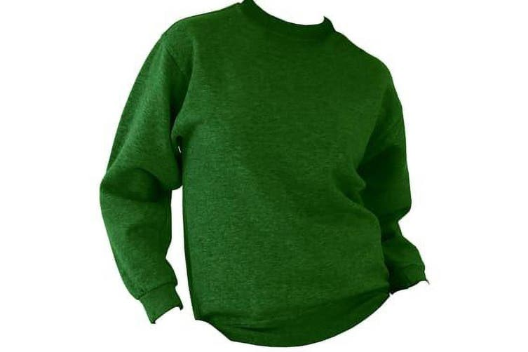 UCC 50/50 Mens Heavyweight Plain Set-In Sweatshirt Top (Bottle Green) (XS)