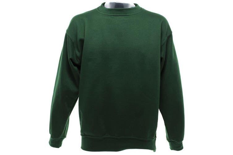 UCC 50/50 Mens Heavyweight Plain Set-In Sweatshirt Top (Bottle Green) (S)