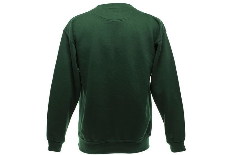 UCC 50/50 Mens Heavyweight Plain Set-In Sweatshirt Top (Bottle Green) (2XL)