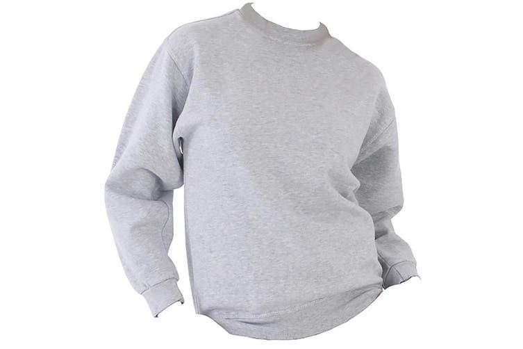 UCC 50/50 Mens Heavyweight Plain Set-In Sweatshirt Top (Heather Grey) (XS)