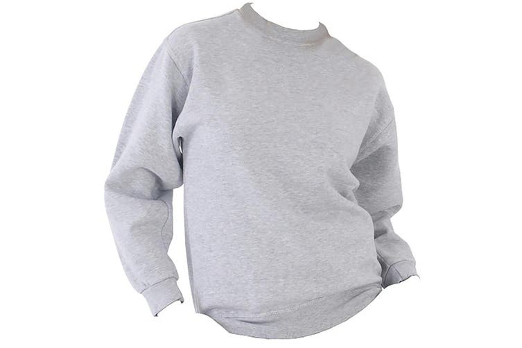 UCC 50/50 Mens Heavyweight Plain Set-In Sweatshirt Top (Heather Grey) (L)