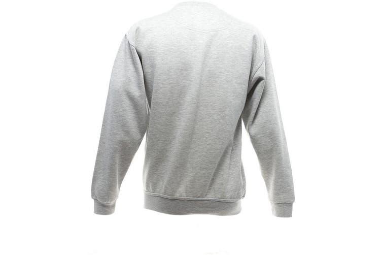 UCC 50/50 Mens Heavyweight Plain Set-In Sweatshirt Top (Heather Grey) (2XL)
