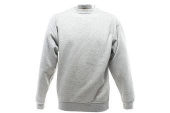 UCC 50/50 Mens Heavyweight Plain Set-In Sweatshirt Top (Heather Grey) (5XL)