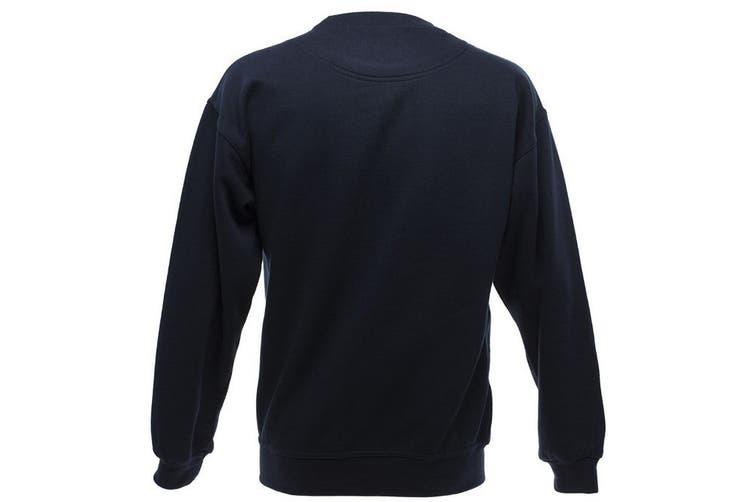 UCC 50/50 Mens Heavyweight Plain Set-In Sweatshirt Top (Navy Blue) (M)