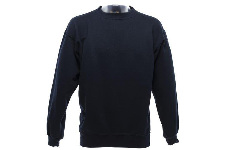 UCC 50/50 Mens Heavyweight Plain Set-In Sweatshirt Top (Navy Blue) (2XL)