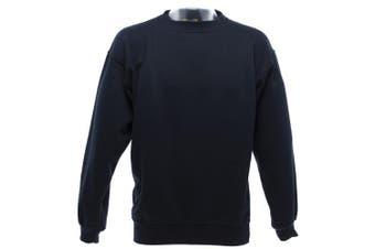UCC 50/50 Mens Heavyweight Plain Set-In Sweatshirt Top (Navy Blue) (4XL)