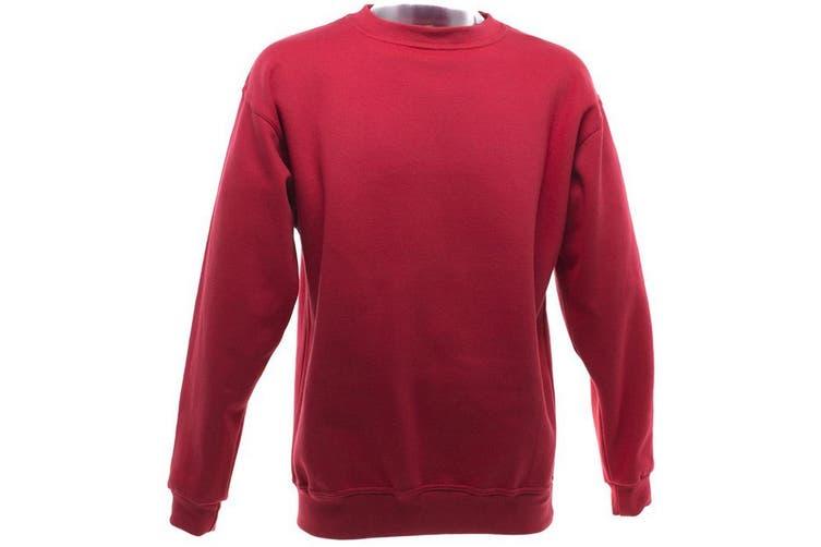 UCC 50/50 Mens Heavyweight Plain Set-In Sweatshirt Top (Red) (XS)