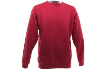UCC 50/50 Mens Heavyweight Plain Set-In Sweatshirt Top (Red) (S)