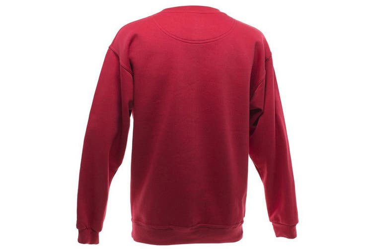 UCC 50/50 Mens Heavyweight Plain Set-In Sweatshirt Top (Red) (XL)
