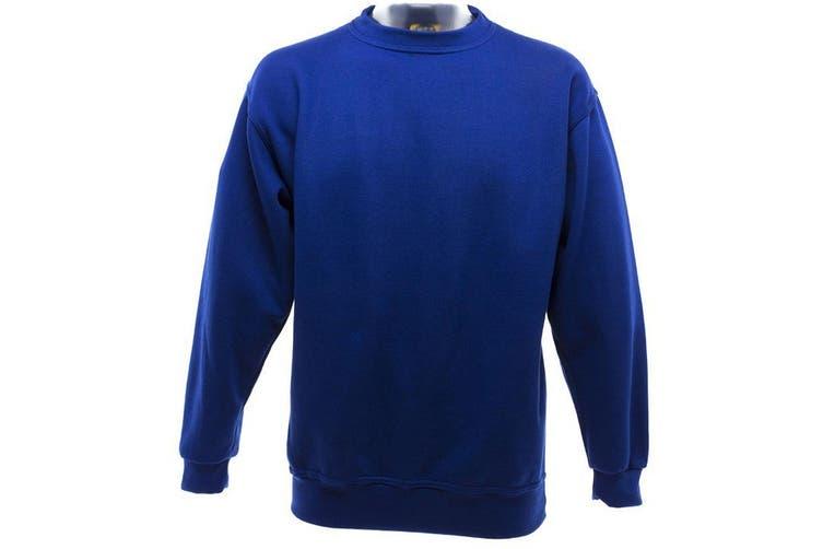 UCC 50/50 Mens Heavyweight Plain Set-In Sweatshirt Top (Royal) (S)