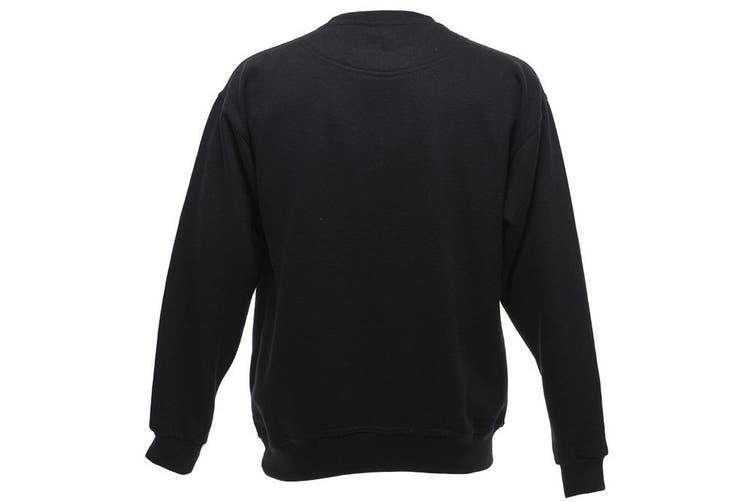 UCC 50/50 Mens Heavyweight Plain Set-In Sweatshirt Top (Black) (XL)