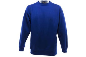 UCC 50/50 Mens Heavyweight Plain Set-In Sweatshirt Top (Royal) (2XL)