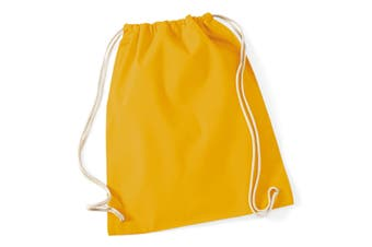 Westford Mill Cotton Gymsac Bag - 12 Litres (Mustard) (One Size)