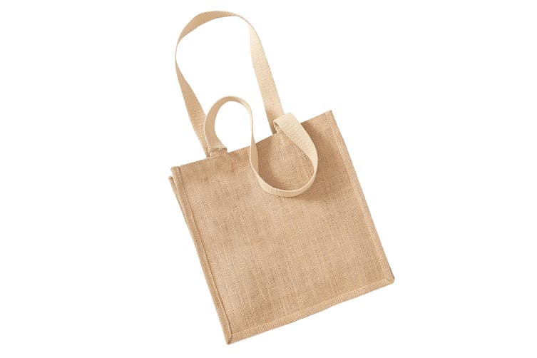 Westford Mill Jute Compact Tote Bag - 10 Litres (Natural) (One Size)