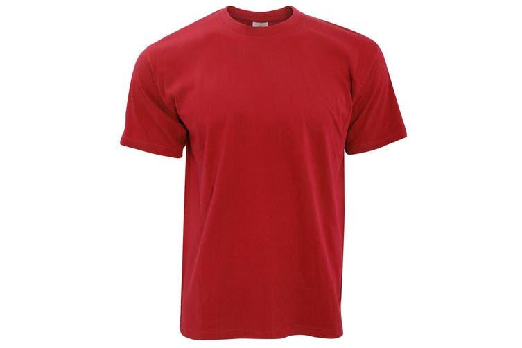 B&C Exact 190 Mens Crew Neck T-Shirt / Mens Short Sleeve T-Shirt (Red) (3XL)