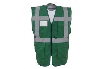Yoko Hi-Vis Premium Executive/Manager Waistcoat / Jacket (Paramedic Green) (2XL)