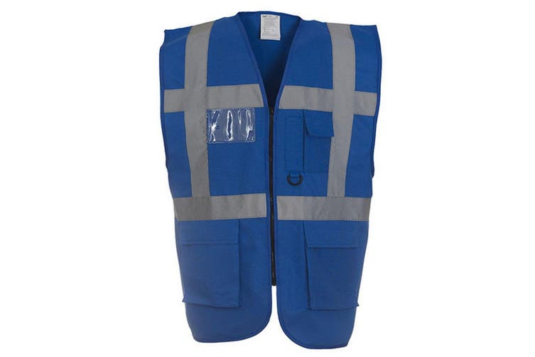 Yoko Hi-Vis Premium Executive/Manager Waistcoat / Jacket (Royal) (L)
