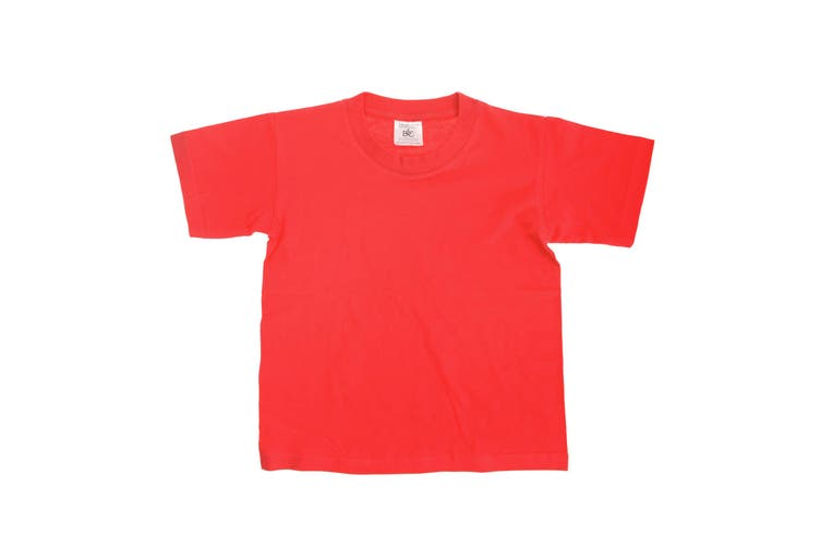 B&C Kids/Childrens Exact 150 Short Sleeved T-Shirt (Red) (3-4)