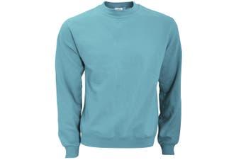 B&C Mens Crew Neck Sweatshirt Top (Light Blue) - UTBC1297
