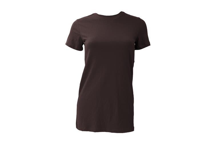 Bella Ladies/Womens The Favourite Tee Short Sleeve T-Shirt (Chocolate) (L)