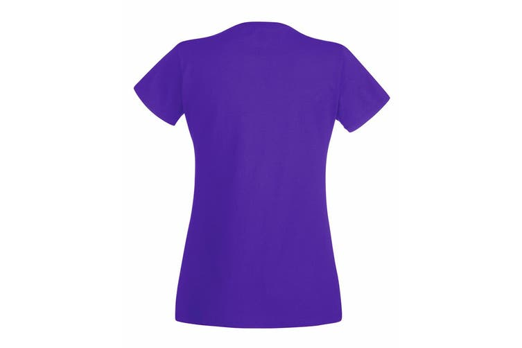 Fruit Of The Loom Ladies/Womens Lady-Fit Valueweight Short Sleeve T-Shirt (Purple) (XS)