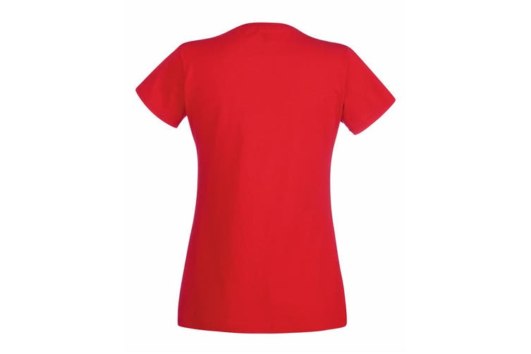 Fruit Of The Loom Ladies/Womens Lady-Fit Valueweight Short Sleeve T-Shirt (Red) (L)