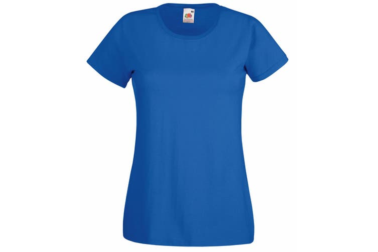 Fruit Of The Loom Ladies/Womens Lady-Fit Valueweight Short Sleeve T-Shirt (Royal) (2XL)